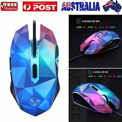7 Button 3200DPI LED Wired USB Optical Backlight Gaming Mouse for PC Laptop OS