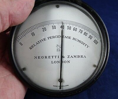 Nice Antique/Vintage Negretti & Zambra Humidity Meter Good Working Condition