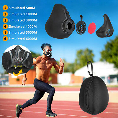 Sports Workout Training Face Mask Running Fitness High Altitude 6 Level Air Flow