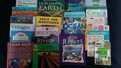 GEOGRAPHY: Box of 20 Children's Educational Books