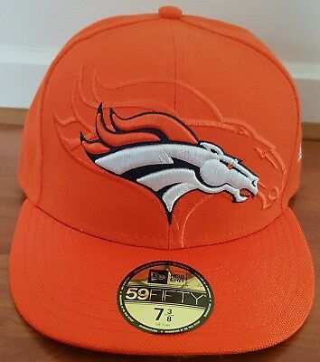 NFL Denver Broncos On Field Sideline New Era 59FIFTY Fitted Cap Hat NWT - 7 3/8