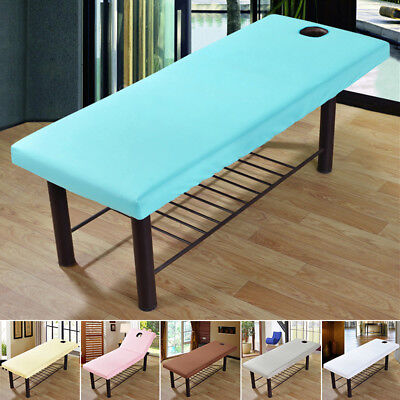 Universal Elastic Cover Sheet For Massage Cure Bed Table Salon Spa Couch Cotton