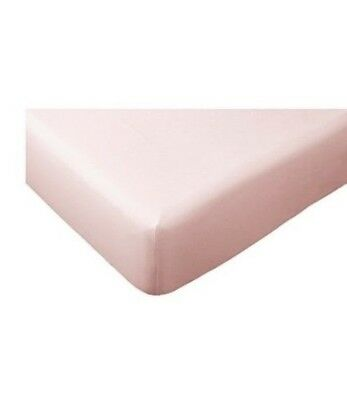 Ikea Dvala Double Fitted Sheet Baby Pink 100% Cotton Soft Bedding Duvet Blanket