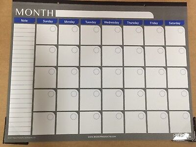 Large Pro-Forma Monthly Wall Calendar - Organiser  With  Free Dates