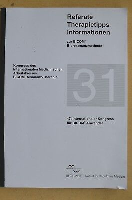 Referate Therapietips Informationen Nr. 29 Bicom Bioresonanztherapie Regumed RTI