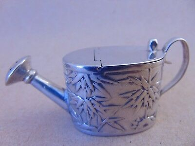 Beautiful Antique Chinese Solid Silver Miniature Watering Can, Luen Wo