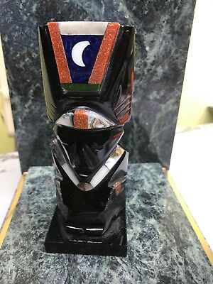 "RARE HANDCARVED BLACK STONE FIGURE 5"" (ff9)"