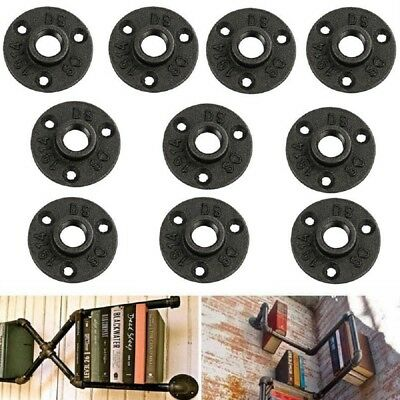 """10pcs 3/4"""" Decorative Flange Malleable Iron Pipe Fittings Wall Floor Flanges"""
