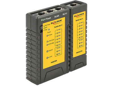 Delock 86407 86407 Twisted pair cable tester Black network cable tester