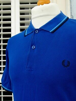 Fred Perry M1200 Royal Blue Twin Tipped Polo - XL/XXL - Ska Mod Scooter Casuals