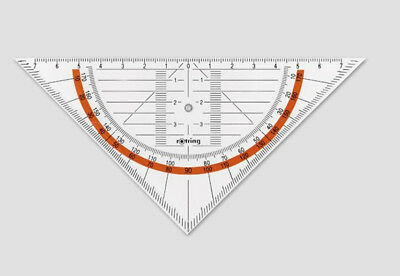 Rotring S0237630 S0237630 protractor - Triangle Ruler - Red Centro Geo set