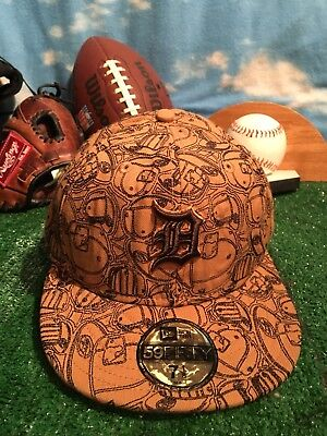 newest c3325 0c639 switzerland new era 59fifty detroit tigers brown hat cap 5950 mlb baseball  fitted 7 1 8