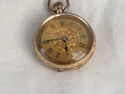 Antique 14ct Gold Ladies Fob Watch, c. 1910