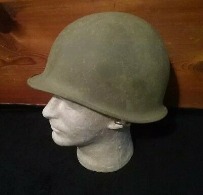 Front Seam Swivel Bales M-1 U.S. Helmet With Marked Liner WWII Battle Used Lot