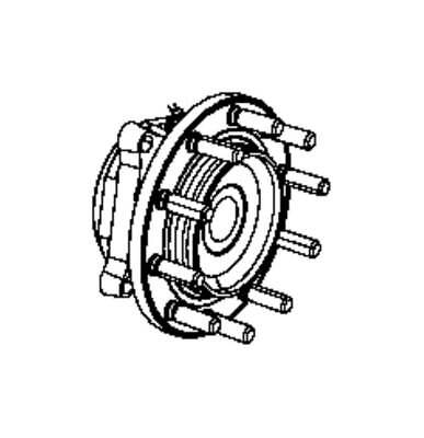 NEW - OEM Mopar 68261674AA Wheel Bearing and Hub Assembly 52132000AG AE SAVE $