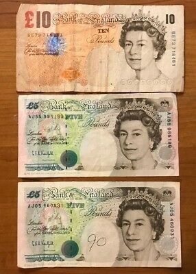 20 Pound Great Britain Bank Of England Notes Currency Lot No Reserve