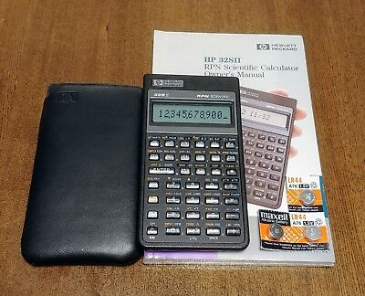 hp 32sii scientific calculator with cover and owners manual rh picclick com hp 32sii scientific calculator manual hewlett packard 32sii rpn scientific calculator manual