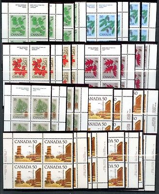Weeda Canada 717/726 VF MNH lot of 12 M/S of PBs, 1977-82 high values CV $352