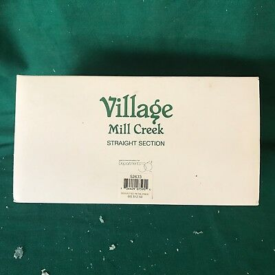 "Dept 56 52633 ""VILLAGE MILL CREEK STRAIGHT SECTION"" NEW IN BOX-MINT CONDITION"