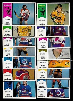 1974-75 Opc O Pee Chee Wha Hockey Card 1-66 See List