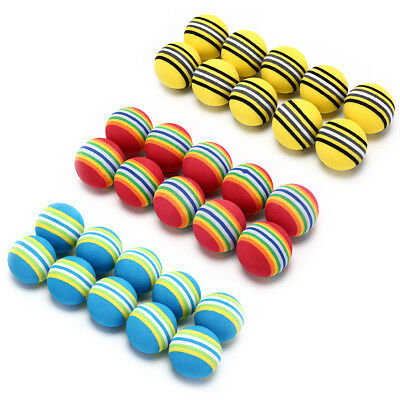 10Pcs Rainbow Stripe foam Sponge Golf Balls Swing Practice Training Aids  SC