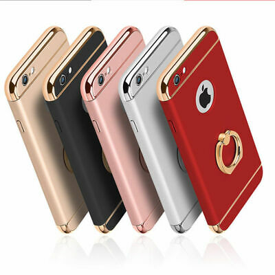 For iPhone 5s 6 6s 7 8 Full Body Hybrid Shockproof Case Cover with Ring holder