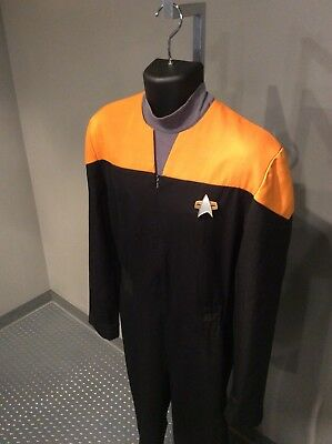 NEW Star Trek Voyager Command Uniform Full Set Costume Red Custom Made AA.0866