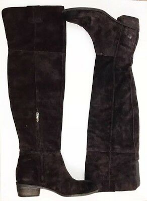 87969fa9513 WOMEN S SAM EDELMAN Johanna Brown Suede Over the Knee Boots Shoes ...