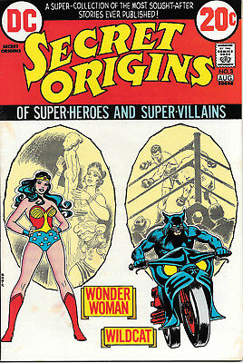 Secret Origins #3 (DC Comics, July 1973) 8.0 VF Wonder Woman/Wildcat