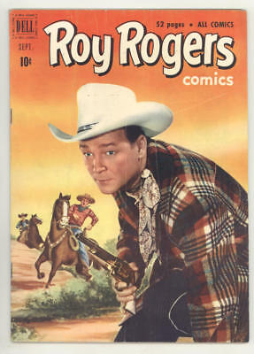 September 1951 ROY ROGERS #45 comic book with great photo covers. FINE