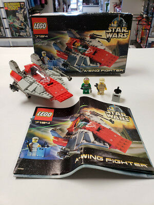 Lego 7134 Star Wars A Wing Fighter Complete Opened Box With