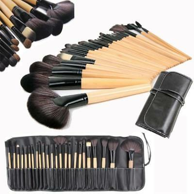 Professional 24 Pcs Kabuki Make Up Brush Set Eye Cosmetic Brushes Case Mall