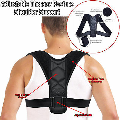 Posture Clavicle Support Corrector Back Straight Shoulders Brace Strap Correct w