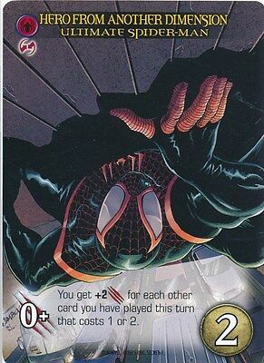 ULTIMATE SPIDER-MAN 2015 Upper Deck Marvel Legendary SP HERO ANOTHER DIMENSION