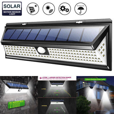 118 LED Solar Powered PIR Motion Sensor Wall lamp Human Body Infrared Light New