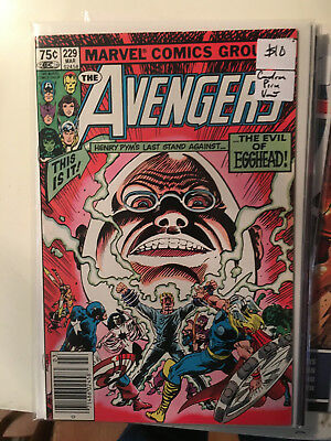 THE AVENGERS #229 VF/NM 1st Print CANADIAN PRICE VARIANT Newsstand