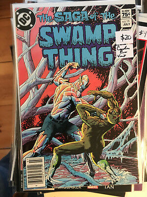 SAGA OF THE SWAMP THING #15 NM 1st Print CANADIAN PRICE VARIANT Newsstand