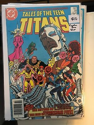 TALES OF THE TEEN TITANS #58 VF/NM 1st Print CANADIAN PRICE VARIANT Newsstand
