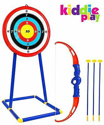 Toy Archery Set for Kids with Target and Bow and Arrow Outdoor Garden Fun Game