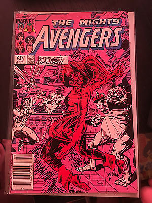 THE AVENGERS #245 NM 1st Print CANADIAN PRICE VARIANT Vision Captain Marvel