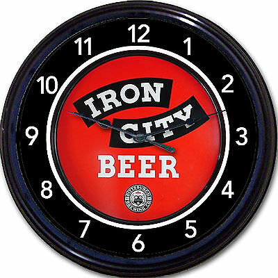 Iron City Beer Pittsburgh Brewing Co Beer Tray Wall Clock Pittsburgh PA Ale