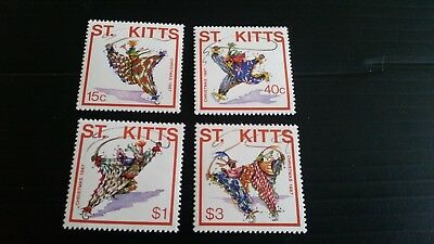 St.kitts 1987 Sg 246-249 Christmas Mnh