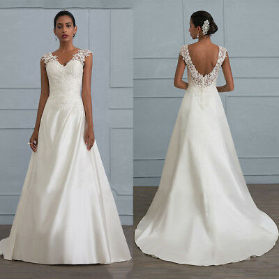 Vintage Lace Wedding Dress Sleeveless Bridal Gowns Custom Backless Evening Party