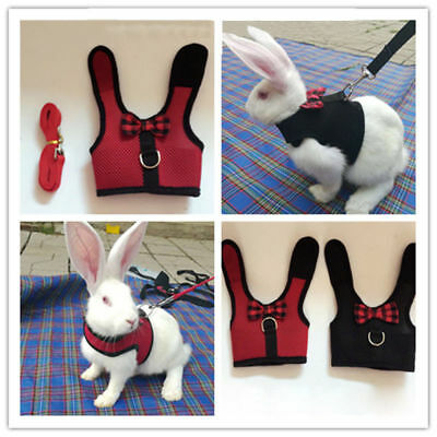 Soft Hamster Rabbit Bunny Mesh Harness Leash Small Animal Pet Vest Suit Outdoor