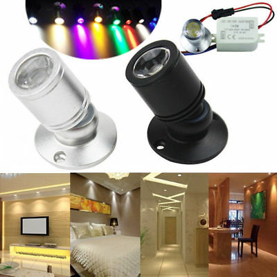 1/3W Recessed Mini Spotlight Lamp Ceiling Mounted LED Downlight Cabinet Light