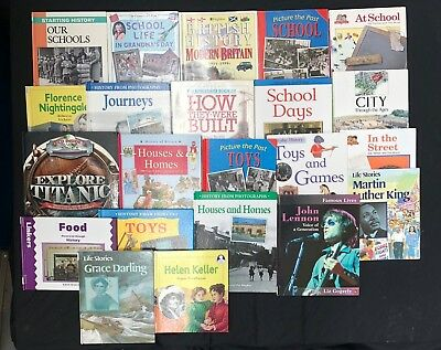 HISTORY MODERN: Box of 22 Children's Educational Books