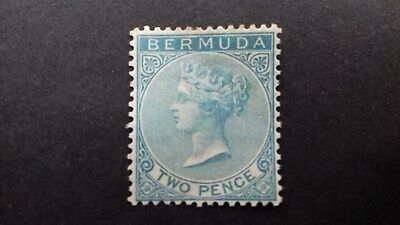 Stamps Bermuda 1886 Queen Victoria Mint Mounted 2d Blue SG25