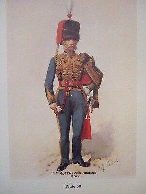 Military Print- Officer 7Th Queen's Own Hussars 1850 By Richard Simkin