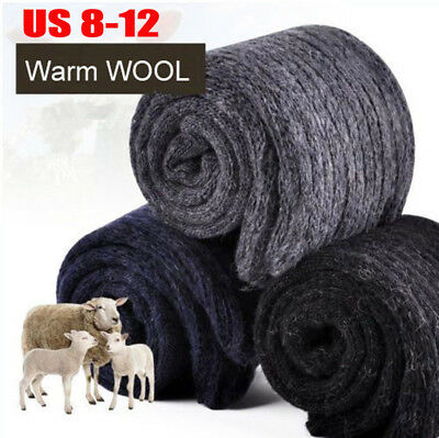 4Pairs 25% Wool Cashmere Warm & Comfortable Large Size Mens Winter Thick Socks