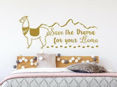 "Llama /""Save the drama for your mama/"" Reflective Vinyl Decal Sticker Drama Llama"